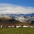 Eyjafjallajokull Ice Cap and Farmland in Iceland